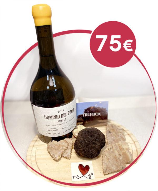 pack romantico vino blanco